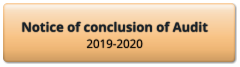 Notice of conclusion of Audit 2019-2020