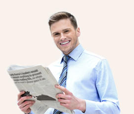 Man reading news